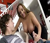 Horny MILF takes advantage of young teen