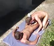Asombrosa mamada y sexo al aire libre