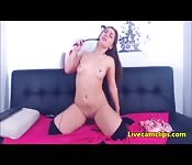 Naughty 18yo loves ridding her toy