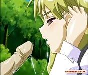 Cartoon giapponese con studentessa con grosse tette che si fa scopare da dietro