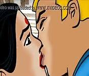 Cómic sobre una hindú profesional de los besos