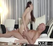 Step daughter and dad fucked outside and inside