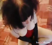 Busty emo punk punk sex girl sucks till he cums