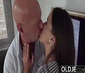 Fucking her deep inside ass