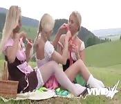 Vivid.com - Lezdom Blonde Threesome