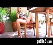 Sexo en público y masturbación