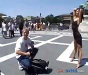 horny babeslut sucks and fucks in public places