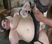 Empregada gordelícia dando pro patrão