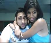 Casal sensual na webcam