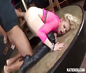 Hot blonde damsel is fired up with hardcore anal fuck