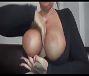 Blonde with big tits goes for some dick in her pussy