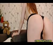 Redhead Babe Showing Off With Her Sex Skills