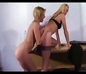 Sexy lesbians in office sex