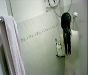 Asian babe taking a shower