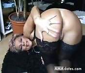 Mature woman shows her huge ass huge mature