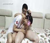 Scopata con infermiera cinese
