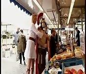 Orgía en el mercado romano