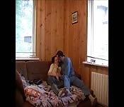 Amateur russian couple on cam