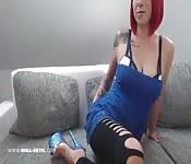 Netz legging Striptease Camgirl Nina