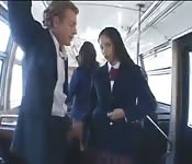 Prohibited sex with a schoolgirl in the bus