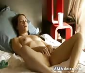 bed masturbating fingers