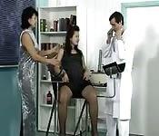 Doctor fucks two ladies