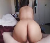 Big ass Asian eats up the inches