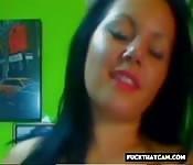 Chubby webcam cuttie shows her big tits stuff