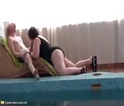 Gangbang anal con madura