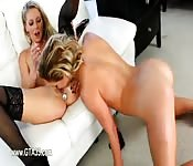 Lesbian teenager experiences with anal toys