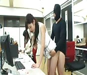 Hot Asian office fuck.