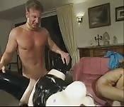 Trio em pornô alemão