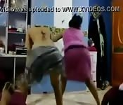 Indian lesbian friends strip after exercising
