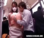 All on a Japanese train
