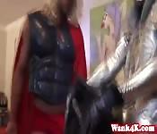 Superhero costume fuck