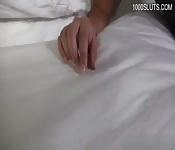 Rubia de tetas grandes en sexo caliente