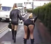 Two blonde amateur playing with each other