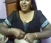 Indian BBW amateur gets titty fucked