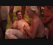 Horny german girl gets fucked hard and deep in club