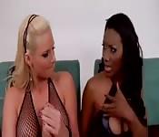 Interracial lesbians sex