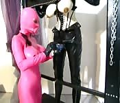 Non-gender specific latex human sex dolls!