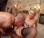 Man handles a blonde