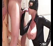 Heiße Catwoman in Latex