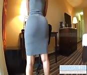 Big ass teasing and twerking