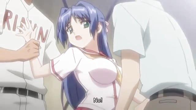 Busty Anime Slut Gets Gangbanged In Woods