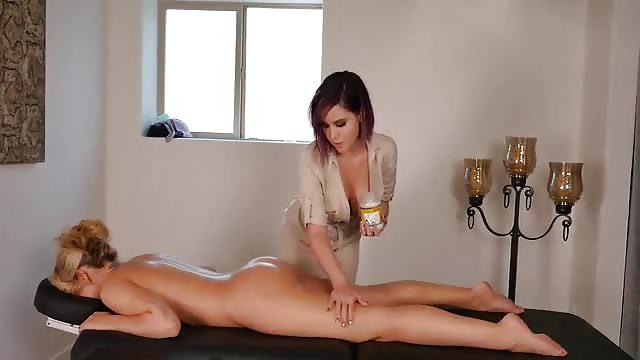 Lesbian massage sensual