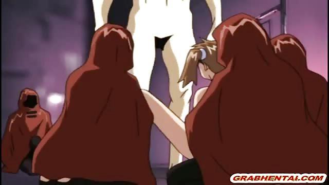 Girl gefesselt anime nackt Anime porn