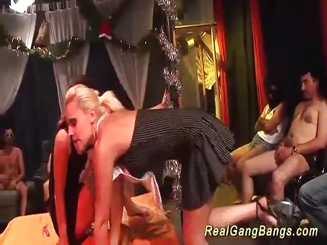 Gangbang party orgie with