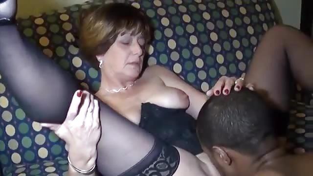 Horny milf fucks guy
