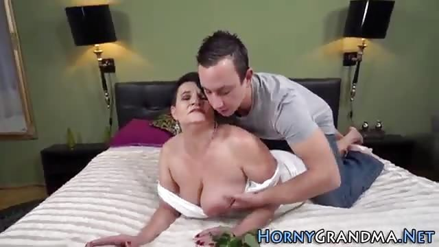 Busty Granny Enjoys Riding A Strong Dick